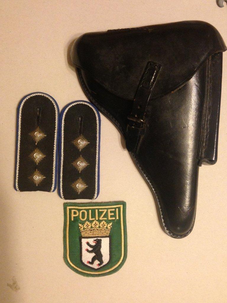 Post WW2 German Police Officer Lot Berlin Luger Case