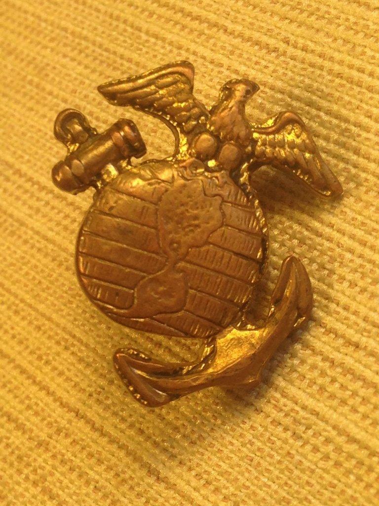 Theater Made USMC Marine Corps WW2 Collar Insignia