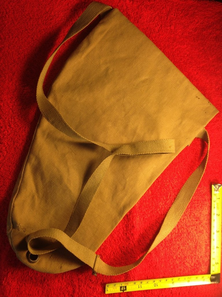 Early U.S. WW2 Military Issue Gas Mask Bag - 2