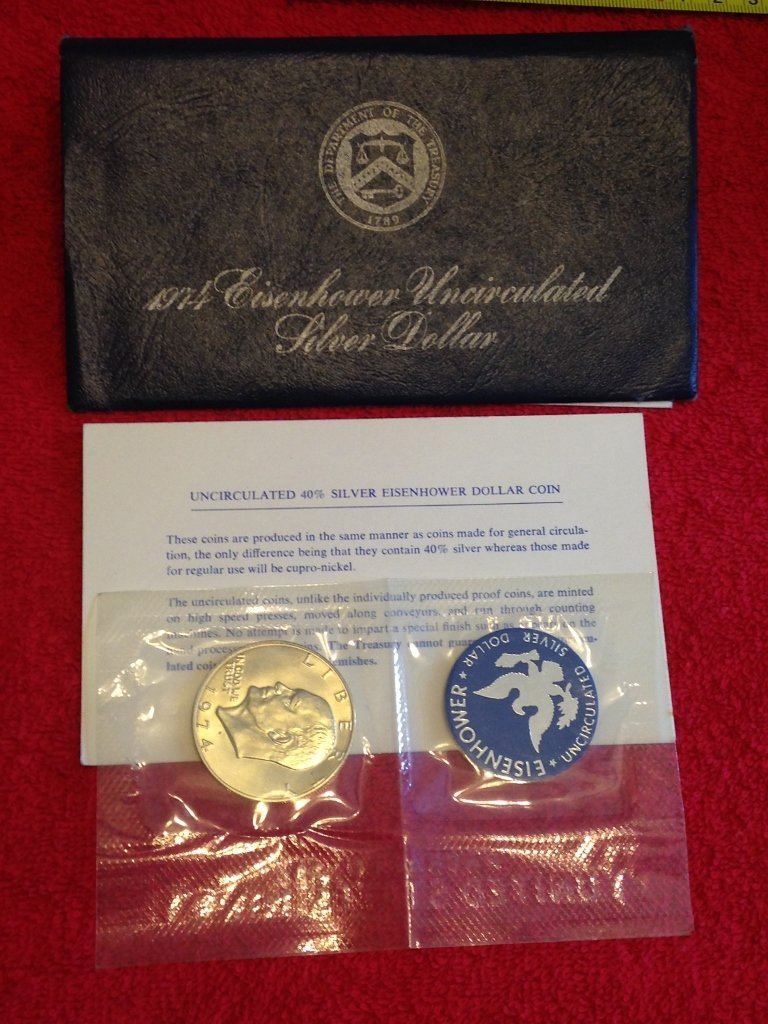 40% Silver Eisenhower Uncirculated Silver Dollar U.S.