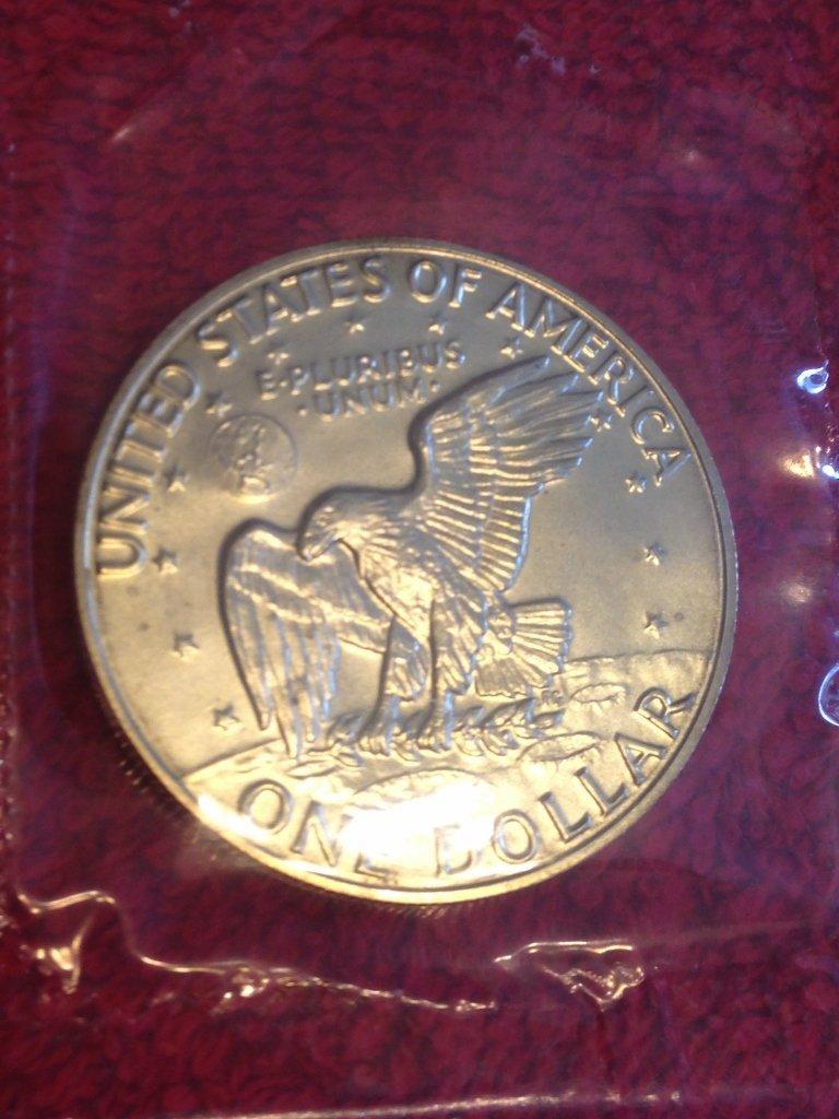 40% Silver Eisenhower Uncirculated Silver Dollar U.S. - 3