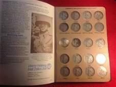 Book Set of Silver Walking Liberty Half Dollars