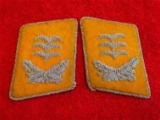 WW2 German Nazi Bullion Luftwaffe Collar Tabs