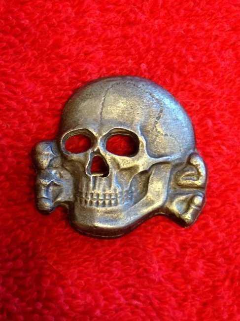 Rare WW2 Nazi SS Totenkopf Skull RZM 499 41
