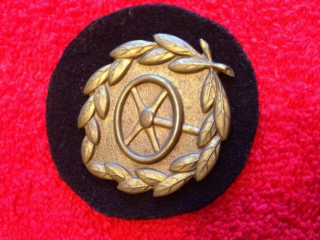 WW2 Nazi Driver Patch Metal on Wool