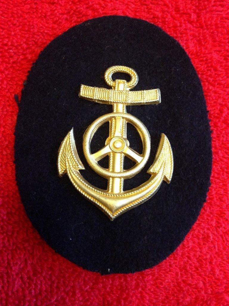 German WW2 Kriegsmarine Anchor Metal on Wool Patch