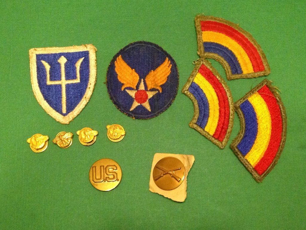 Lot of Military WW2 Items from Veteran's Estate