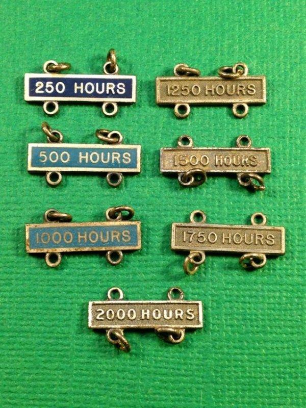 Set of WW2 Sterling Flight Hour Bars