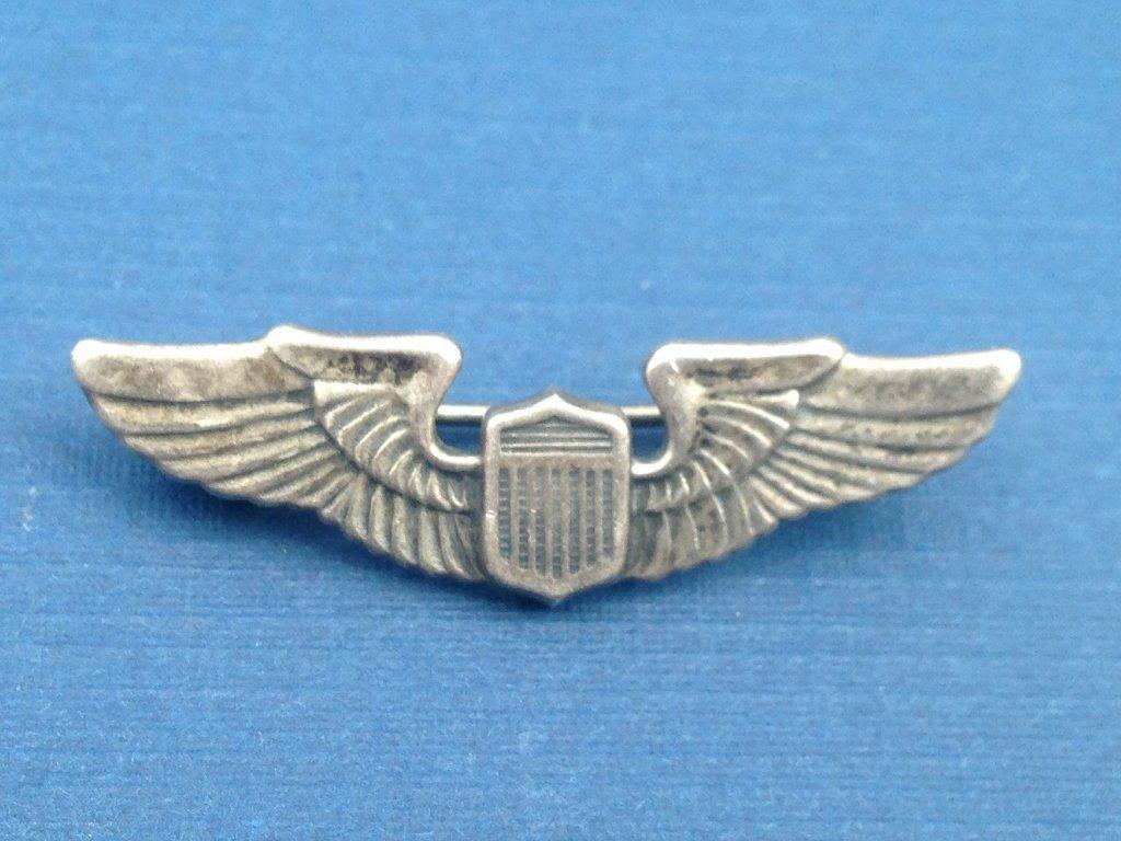 Sterling Silver U.S. WW2 Early War Wings