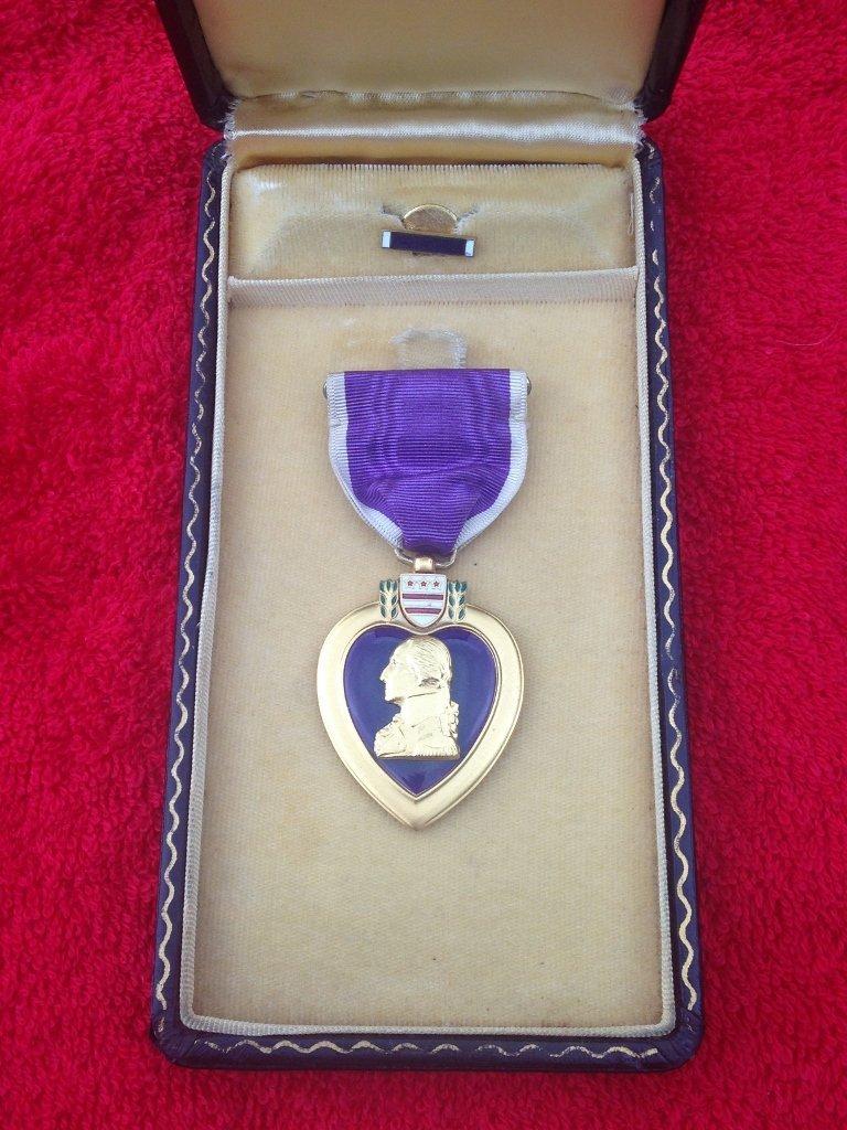 WW2 WWII Purple Heart Cased awarded to PFC Kulpinski