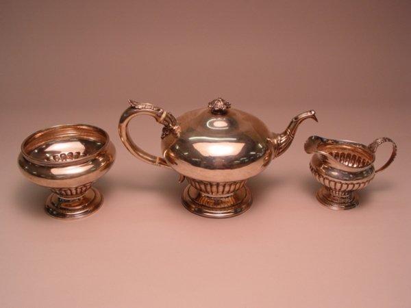 100: 3pc Silver Tea Set Edinburgh W.P. Cunningham