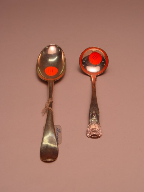 111: Scottish Silver Table Spoon & Ladle 1776