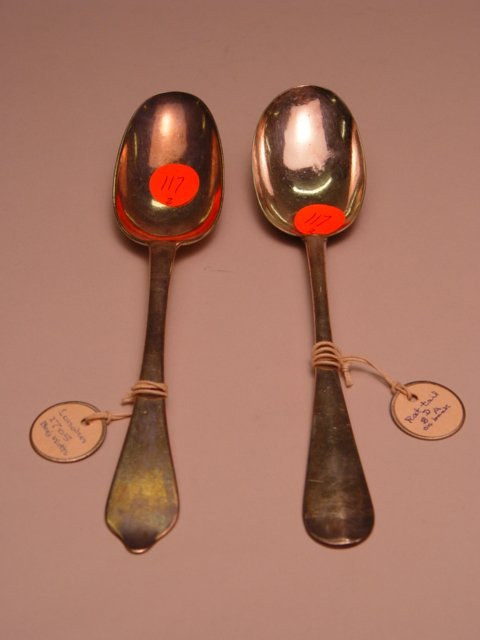 117: Two English Silver Spoons 1705 & 1710