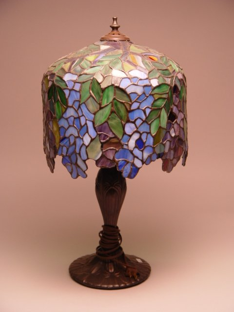 123: 3 Stained Glass Table Lamps