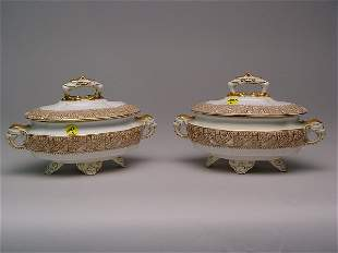 Two Royal Worcester Sauce Tureens