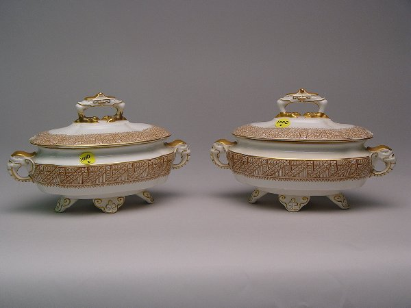 1000: Two Royal Worcester Sauce Tureens