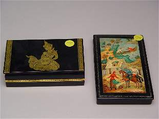 Russian Hand Painted Lacquerware Box