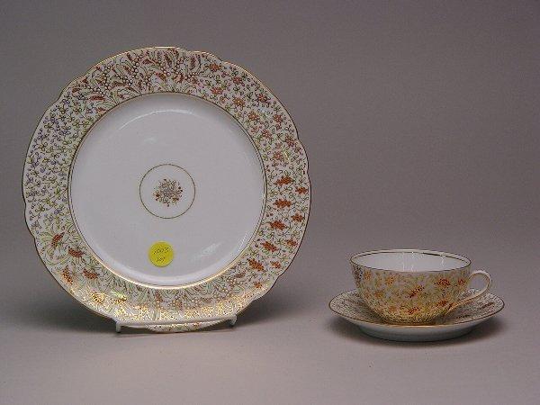 1003: Continental Porcelain Enamel Docorated Dessert Se