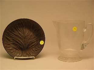 Lalique Black Crystal Agla Plate