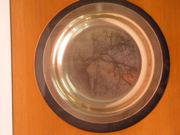 1011: 9pc Lot Franklin Mint Sterling Plates Rockwell Wy