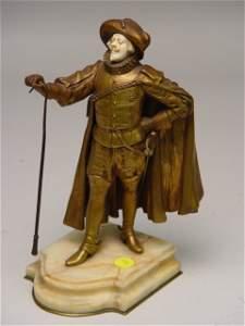 1233: Paul D'Aire Bronze Ivory Figure