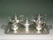 6pc Dominick & Haff Sterling Tea Coffee Service