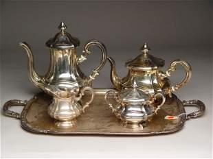 5pc Continental Silver Tea Coffee Service