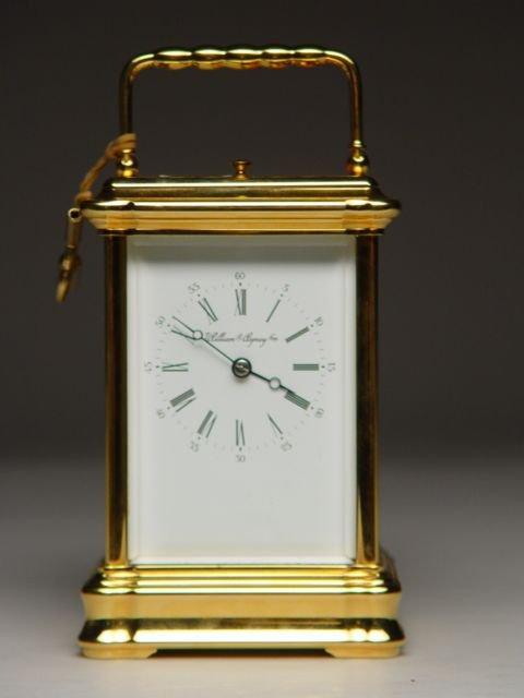 101: Brass & Glass Repeator Carriage Clock