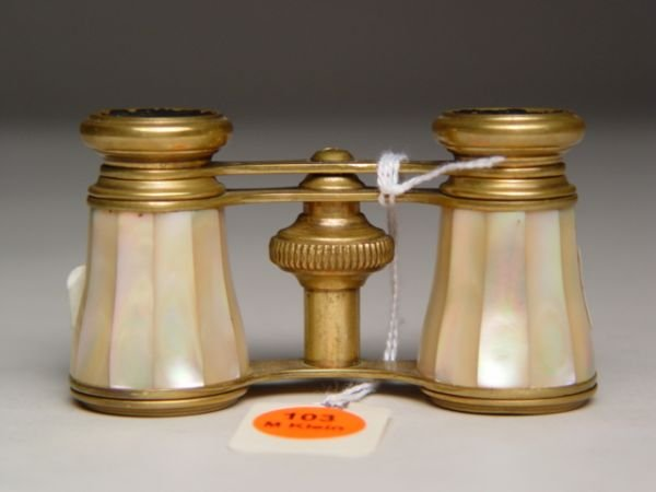 103: Bronze & Mother of Pearl Opera Glasses