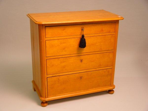 413: 19th c. Birch Wood Commode