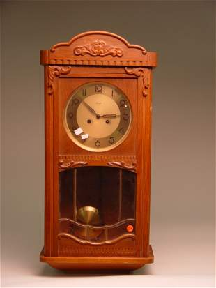 German Kienzle Oak Wall Clock