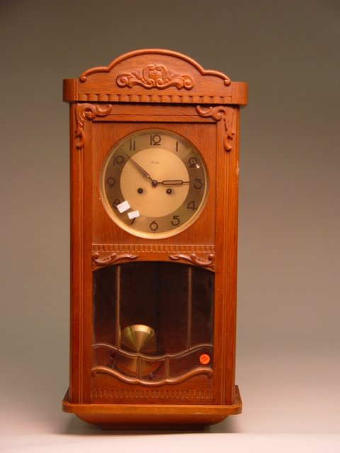 109: German Kienzle Oak Wall Clock
