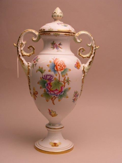 111: Large Herend Porcelain Covered Urn