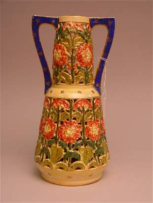 Emil Fischer Two-Handle Pottery Vase