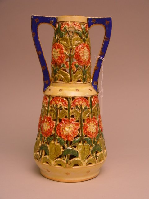 113: Emil Fischer Two-Handle Pottery Vase