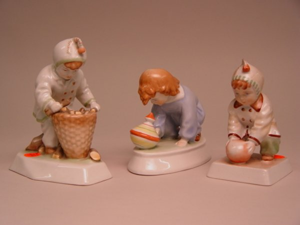 115: A Group of Three Zsolnay Figurines