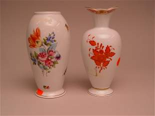 Two Herend Porcelain Vases