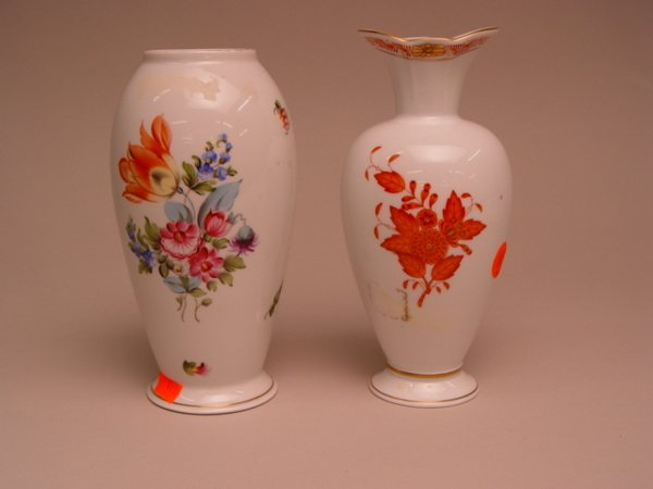 117: Two Herend Porcelain Vases