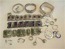 210: Group of Mexican Sterling Silver Jewelry