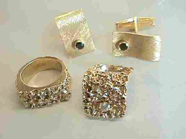 229: 14K Gold Rings & Cufflinks
