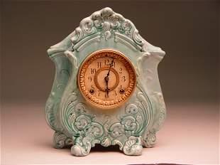 Antique Ansonia Porcelain Case Clock