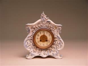 Antique Porcelain Cased French Clock