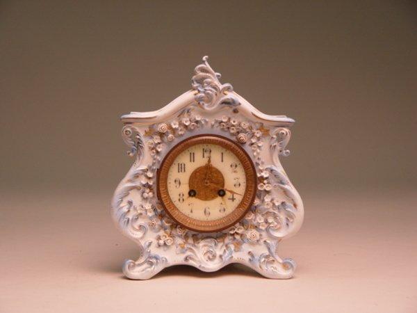 120A: Antique Porcelain Cased French Clock
