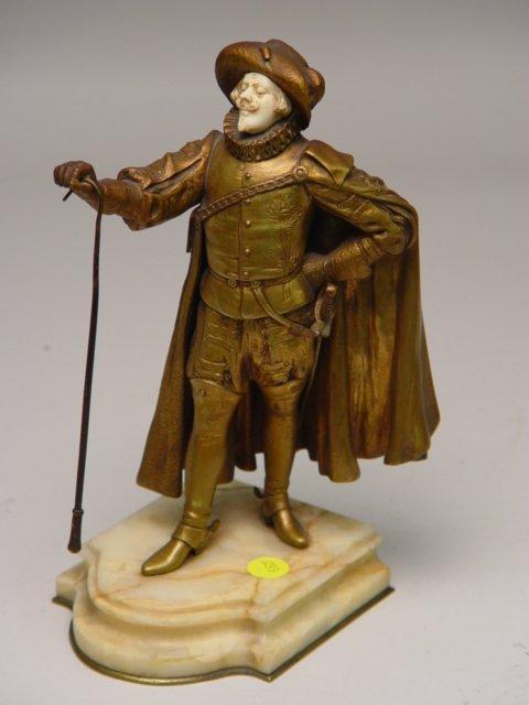 1201: Paul D'Aire Bronze Ivory Figure