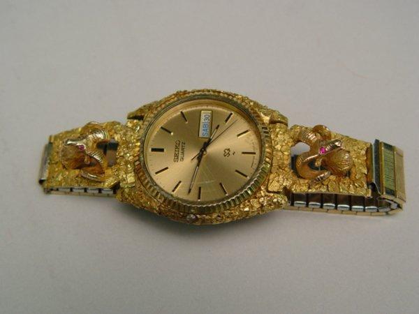 1003: Gent's Seiko Ram's Head Wristwatch