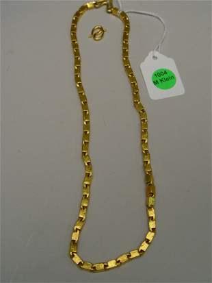 """20"""" Antique Solid Gold Chain Link Necklace"""