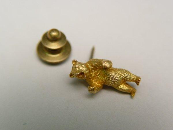 1007: 10K Gold Bear Tie Tack