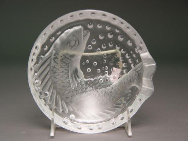 107: A Lalique Koi Fish Crystal Ashtray