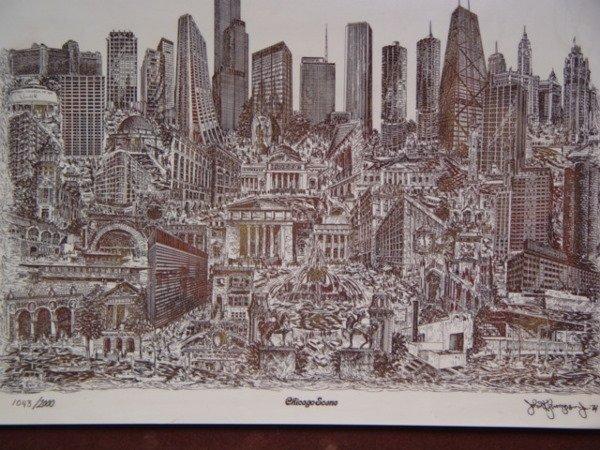 240: John K. Thompson Chicago Scene Marble