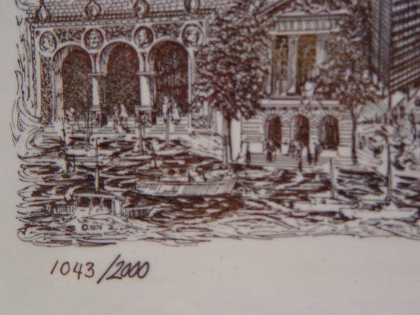 240: John K. Thompson Chicago Scene Marble - 2
